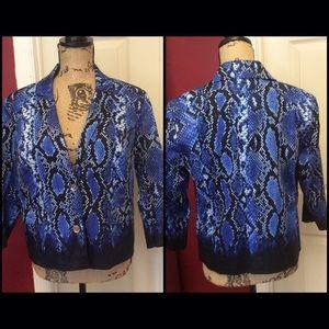 Michael Kors Blue snake print light blazer